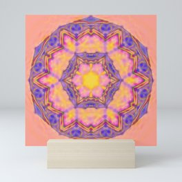 Delicate kaleidoscope in the colors of summer Mini Art Print