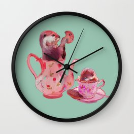 Otter Tea and Biscuits Wall Clock