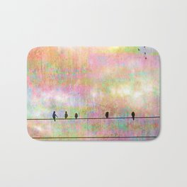 The Quickening, Abstract Sky and Birds Bath Mat