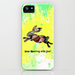 Happy Easter Rabbit - Keep Runing with You iPhone Case
