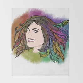 Lana Parrilla - Feathers of Hope Throw Blanket