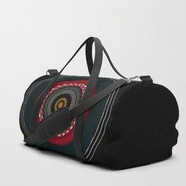 Modern Black White and Red Mandala Duffle Bag