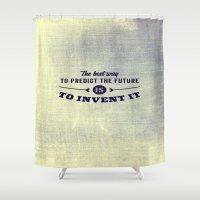 future Shower Curtains featuring Future by Momentaufnehmer