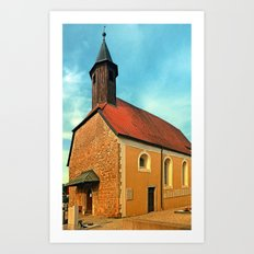The cemetary church of Aschach an der Donau | architectural photography Art Print