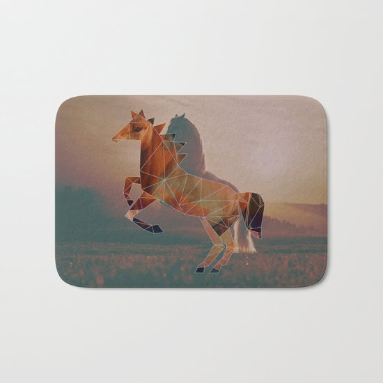 Horse with Horse Bath Mat