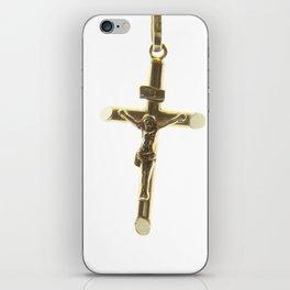 Cross Jesus Christ gold horizontal iPhone Skin