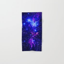 Fox Fur Nebula Galaxy blue purple Hand & Bath Towel