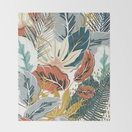 Tropical Wild Jungle Throw Blanket