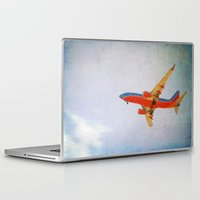 airplane Laptop & iPad Skins featuring Airplane by KimberosePhotography