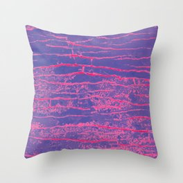 purple stone Throw Pillow
