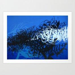 Crescendo in blue Art Print