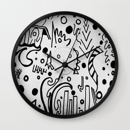 Forming Thoughts Wall Clock