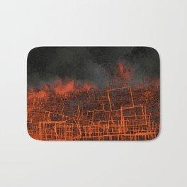 Urban landscape geometric structure rubble illustration Bath Mat