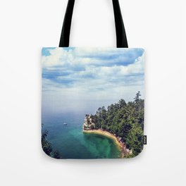 Miners Castle rock formation Tote Bag