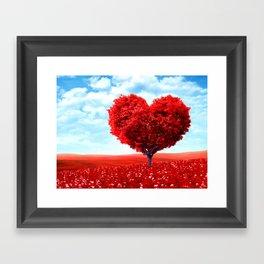 Cosmic love tree 3 Framed Art Print