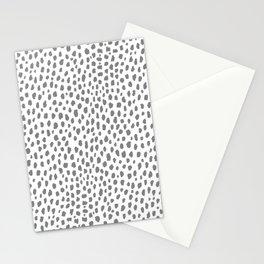 Gray Dalmatian Spots (gray/white) Stationery Cards