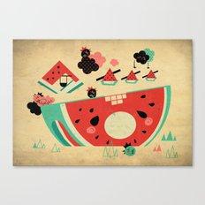 Watermelon Playground Canvas Print