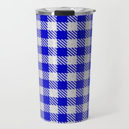 Medium Blue Buffalo Plaid Travel Mug