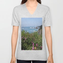 Beautiful North California Coast Unisex V-Neck