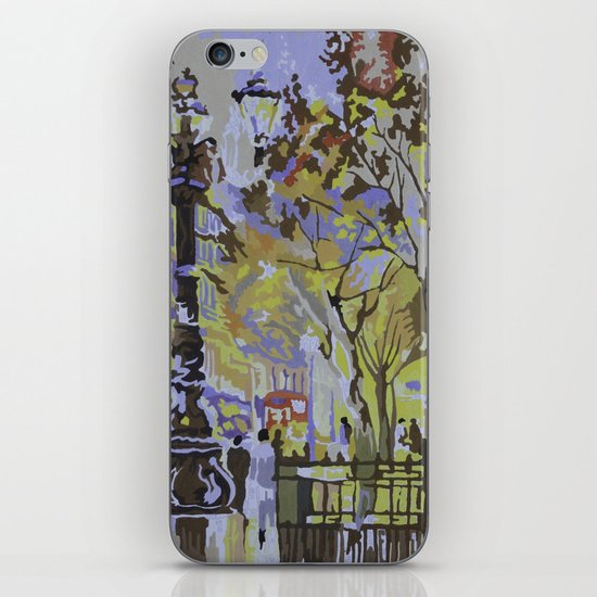 paint by numbers pattern iPhone & iPod Skin