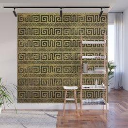 Vintage Gold  Greek Meander Pattern Wall Mural