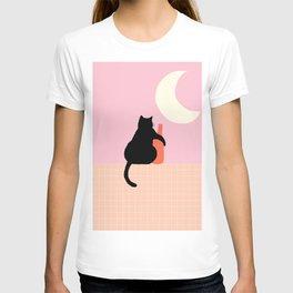 Abstraction_CAT_DRUNK_NIGHT_Minimalism_001 T-shirt