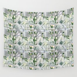 green_pattern Wall Tapestry