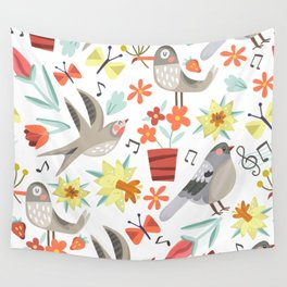 Spring Songs Wall Tapestry