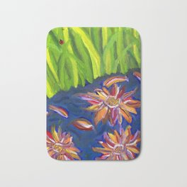 Flowers Float by Ladybug Grass Bath Mat