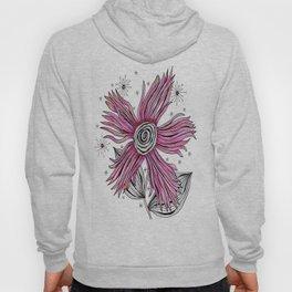 My Funky Valenting - Zentangle Pink Flower Hoody