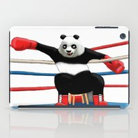 boxing iPad Cases featuring Boxing Panda by Joker-laugh