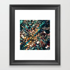 Abstract Texture And Colors Framed Art Print