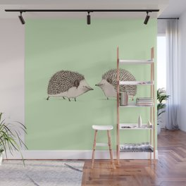 Two Hedgehogs Wall Mural
