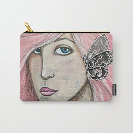 Time Enough Mixed Media Carry-All Pouch