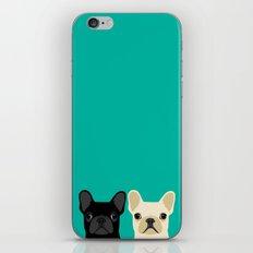 2 French Bulldogs iPhone Skin