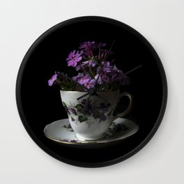 Botanical Tea Cup Wall Clock
