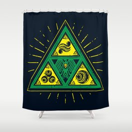 The Tribal Triforce Shower Curtain