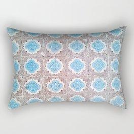 Porto Blue & Brown Tiles II Rectangular Pillow