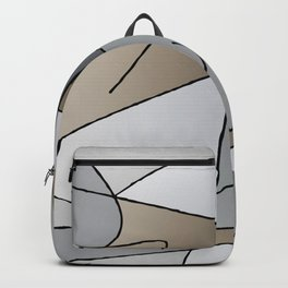 ABSTRACT CURVES #2 (Grays & Beiges) Backpack