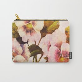 pink pansies Carry-All Pouch