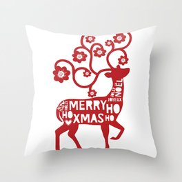 Scandinavian Christmas Greeting 01 Throw Pillow