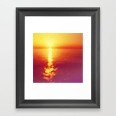 Bokeh sunset Framed Art Print