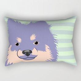 Olie the Pomeranian in Purple Rectangular Pillow