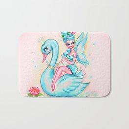 Blue Swan Fairy Bath Mat