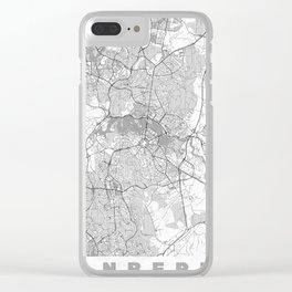 Canberra Map Line Clear iPhone Case