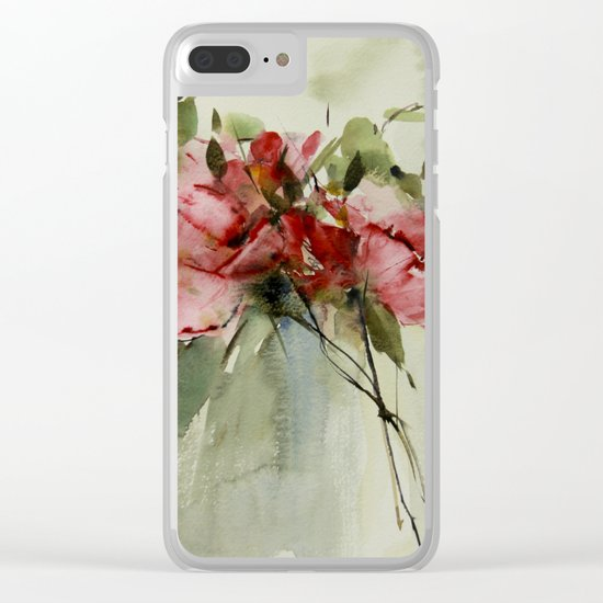 summer roses Clear iPhone Case