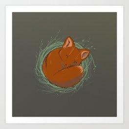 Little Fox - Cute Animals Art Print