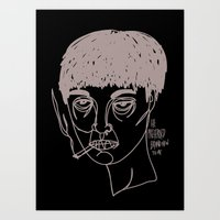 Moody Hipster Art Print