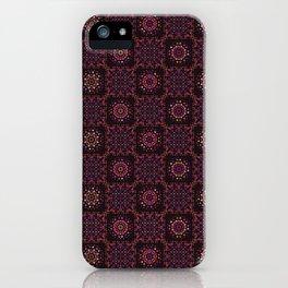 Quilt Patchwork Tile Pattern iPhone Case