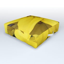 Exotic, Luxurious, Bright Yellow Lilies Outdoor Floor Cushion